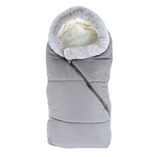 Saco de dormir para bebé Saco de dormir para bebé Bebé para cochecito Saco de dormir cálido Saco de dormir Cochecito a prueba de viento Manta de algodón anti-patadas para recién nacidos, Gris, Francia