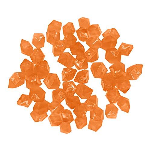 Luminous Steinen, 300 Stücke Leuchtsteine Pebble Stone nachtleuchtende Leuchtsteine Leuchtkiesel leuchtende Kiesel Aquarium Garten Deko für die Dekoration Gehwege Fisch Tank Garten (Orange)