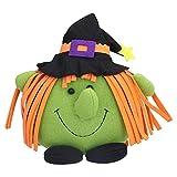 Jouet en Peluche Halloween, Jouet de Décoration en Peluche Citrouille, Poupée Décorative en Peluche Drôle Créative pour la Fête D'Halloween à la Maison(vert)
