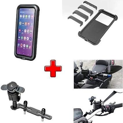 Compatible con KTM Freeride 250 R Carcasa Universal para Smartphone RÍGIDO 78X165 + Soporte para Tapa Tanque DE Aceite Frenos O Embrague Motocicleta Scooter