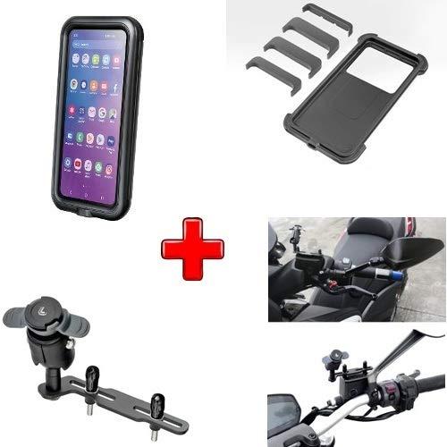 Compatible con Aprilia SPORTCITY 125 Carcasa Universal para Smartphone RÍGIDO 78X165 + Soporte para Tapa Tanque DE Aceite Frenos O Embrague Motocicleta Scooter