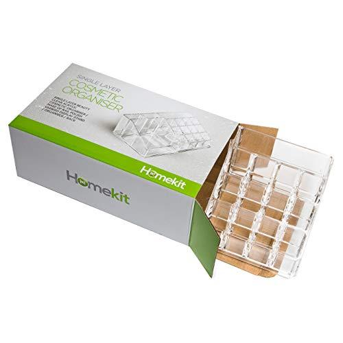 Utensilienbox 16 Fächer Schreibtisch Kosmetikbox Organizer Bad Stifteköcher Pinselhalter Aufbewahrungsbox Acrylbox Beauty-Kosmetikhalter Lippenstifthalter Tischorganizer durchsichtig Schreibtischköcher