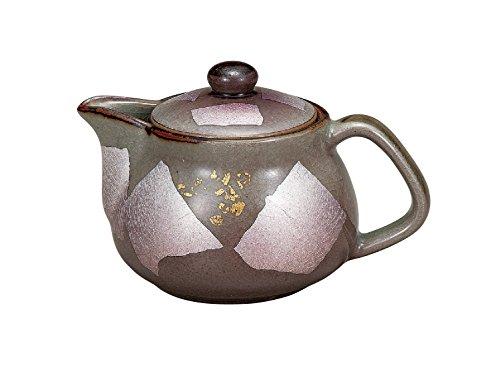 kutani Japonés de Cerámica de Porcelana ware. Japonés kyusu tetera. El oro y la plata de color (w/Net) K4-591 de Japón