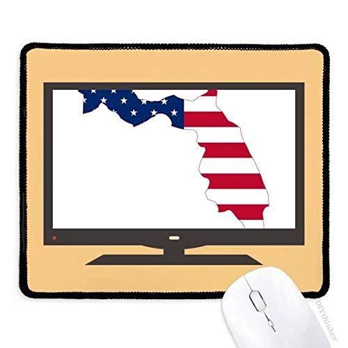 Florida USA kaart sterren strepen vlag vorm computer muis pad anti-slip rubber muismat spel kantoor