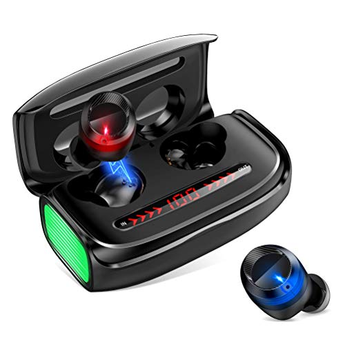 Wireless Earbuds with 3000mAh Charging Case, Upgrated Bluetooth V5.0 Wireless Headphones 170 Hours Music Time, TWS Touch Control Deep Bass Stereo IPX5 Waterproof Earphones for iPhone Android