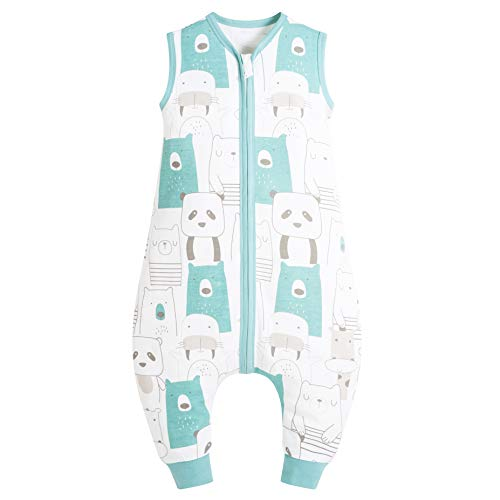 Mosebears Baby Schlafsack Sommer, Cute Cartoon waschbare Decke 0,5 tog für Mädchen und Jungen, New Pyjamas ohne Ärmel Schlafsack