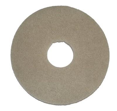 "Oreck Commercial 437058 Stone Care Orbiter Pad, 12"" Diameter, Beige Marble, For ORB550MC Orbiter Floor Machine"