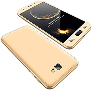 Samsung Galaxy J7 Prime Case, fashion ultra Slim Gkk 360 Full Protection Cover Case - Gold