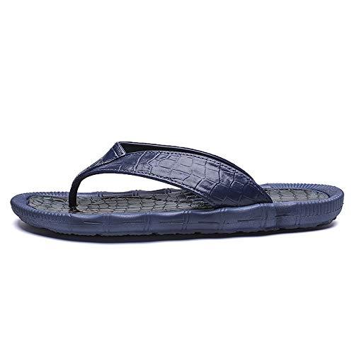 N / A Sportliche Outdoor-Schuhe für Herren, weich und bequem, Flip-Flops, Strandschuhe für Herren (Farbe: Blau, Größe: 40)