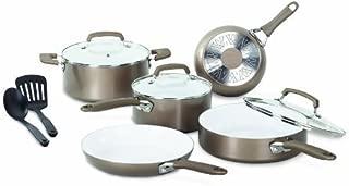 T-Fal/Wearever C944SA64 Pure Living Cookware Set, Ceramic Interior, 10-Pc. - Quantity 1