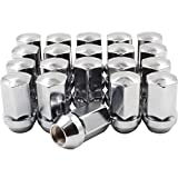 Wheel Accessories Parts 9/16 OEM Lug Nuts Chrome 20 Pack 9/16'-18 Lug Nuts fit Chrysler Mitsubishi Dodge RAM 1500, OEM Replacement 6036433AA 611-204 Wheel Lug Nut Factory Style (Chrome)