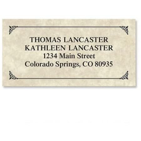By Colorful Images Set of 144 Large Self-Adhesive Flat-Sheet labels Personalized Return Address labels