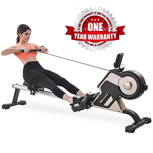 Save %11 Now! Merax Rowing Machine Magnetic Rower Machine Home Rower with 8 Levels Resistance Adjust...