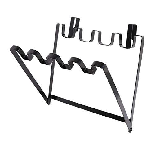 Överskåp Metallpåsehållare - Justerbar organisator för kök, vit/svart - svart