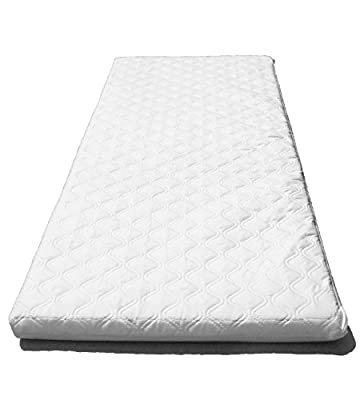 SUZY® Made to Measure Microfibre Luxury Quilted Hypoallergenic Crib, Moses Basket or Pram Mattress (Small size) 4cm Deep