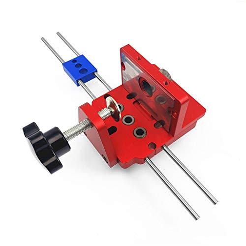 YWSZJ Carpintería 3 en 1 Kit de Plantillas de Clavija con Clip de posicionamiento guía de perforación Puncher localizador de Carpintero Kit de Sistema de carpintería Herramientas de Bricolaje