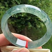 ミャンマー翡翠氷丸棒ブレスレットフローティンググリーンフラワーブレスレット翡翠ブレスレット子供用ヤングリーン翡翠ブレスレット,60-61mm