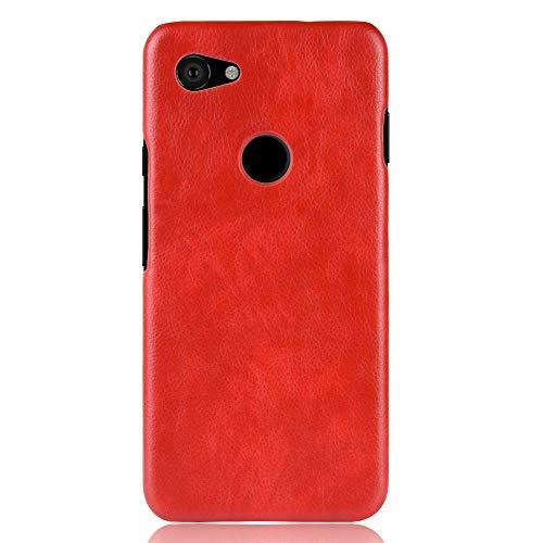zl one Funda de piel sintética compatible con Google Pixel 3A (rojo)