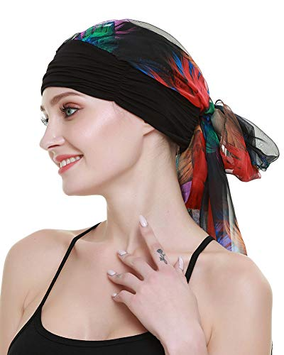 FocusCare Quimio turbantes Sombreros para Pacientes de cáncer Imprimir Cabeza Bufandas Gorros