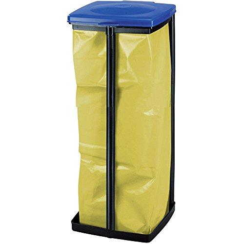 CURVER Müllsackständer Quadra 32,5x28x6,8cm in schwarz/blau, Plastik, 32.5 x 28 x 6.8 cm