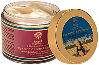 Khadi Essentials Kumkumadi Body Butter with Saffron, Almond Milk, Shea Butter, Jojoba Oil, SLS Paraben-Free Skin Care Crea...