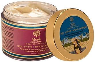 Khadi Essentials Kumkumadi Body Butter with Saffron, Almond Milk, Shea Butter, Jojoba Oil For Skin Glow, 100gm SLS Paraben Free Skin Care Cream (Amrut Tarangini Kumkumadi Body Butter)