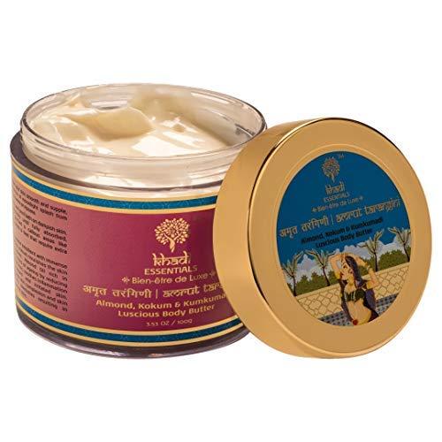 Khadi Essentials Kumkumadi Body Butter with Saffron, Almond Milk, Shea Butter, Jojoba Oil, SLS Paraben-Free Skin Care Cream For...