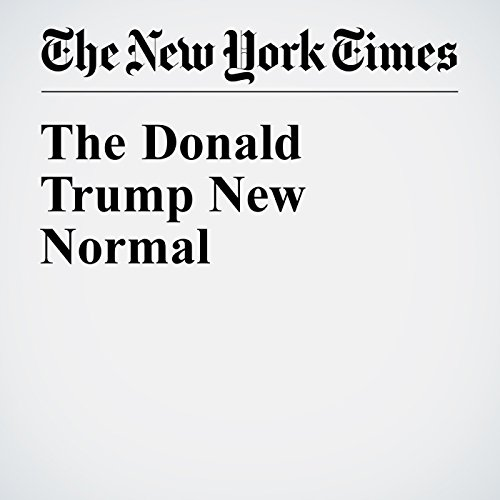 The Donald Trump New Normal audiobook cover art