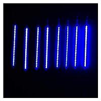 ストリングライト 30CM 50CM流星雨チューブLEDストリングライト8Tubeは雨ドロップつららクリスマス結婚式の妖精文字列ガーランドを落下します (Emitting Color : Blue, Wattage : 30CM)