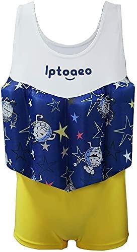 Modischer Badeanzug Tauchanzug Junge, Auftriebsarm + Hut + Badeanzug + Auftriebsbrett, einteiliger Auftriebsbad-Badeanzug-Badeanzug-Tauchanzug, (Size : 120CM)