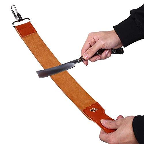 Rasiermesser Schärfender Gürtel Echtes Leder Paddle Strop Doppelseitig für Rasiermesser Klappmesser