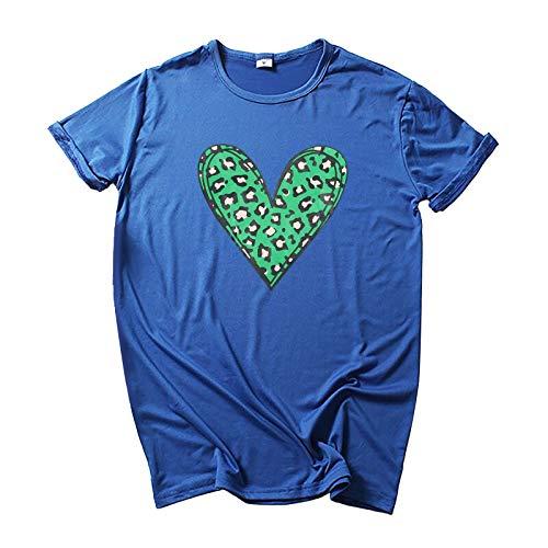 Camiseta básica de verano para mujer, parte superior en...