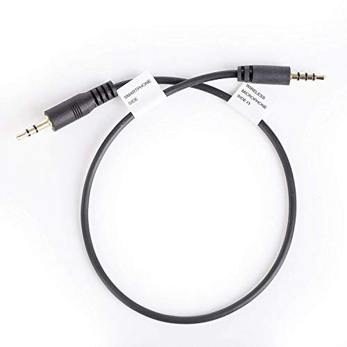 Movo CFP-1 connettore jack TRS (maschio) 3.5mm ingresso microfono/cuffie a TRRS (maschio), adattatore smartphone per iPhone, iPad e Android