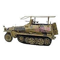 モデル玩具1/35スケールドイツ250-3ハーフトラック軽装甲車両キッズ玩具、7.5インチx9.8インチ