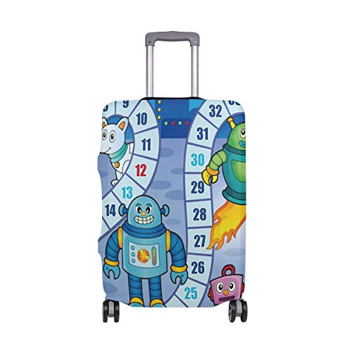 FOLPPLY Funny Cartoon Tiger Welcome Luggage Cover Baggage Suitcase Travel Protector Fit for 18-32 Inch