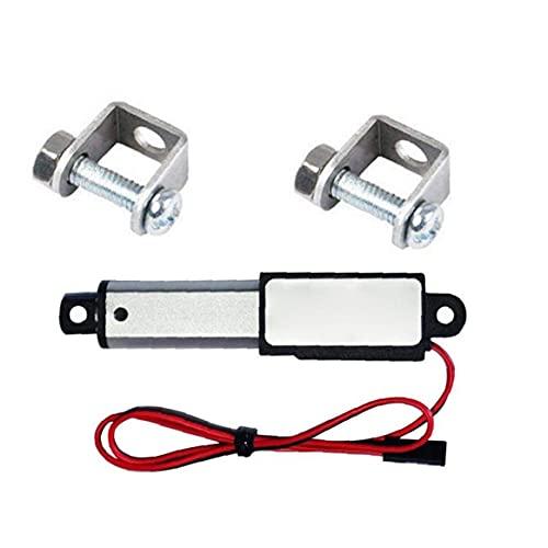 Actuador lineal de 12V 30N velocidad de 30 mm Longitud 30 mm Micro Mini eléctrico a prueba de agua con soportes de montaje para el coche auto Automatización Industrial