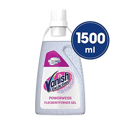 Vanish Oxi Action Gel Powerweiss – Fleckentferner Gel ohne Chlor – Zum Waschen, Vorbehandeln und Einweichen weißer Wäsche – 1 x 1,5 l