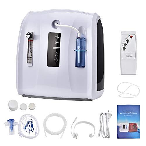 ETE ETMATE Concentrador de oxígeno, 1-6L / min Máquina de oxígeno portátil Ajustable para Uso en el hogar y en Viajes