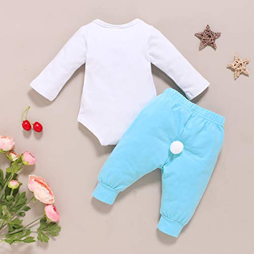 Detigee Baby Boys My First Easter Outfit Toddler 1st Easter Day Bodysuit (Blue,12-18 Months)