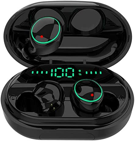 Bluetooth 5 0 Headphones Wireless Earbuds IPX8 Waterproof Stereo Earbuds with Microphone LED product image