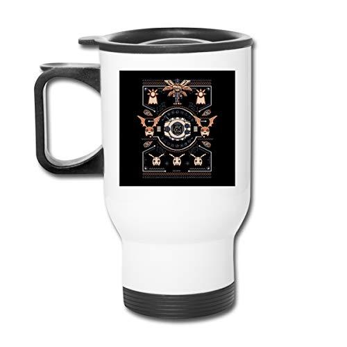 Dig-imon Agumon Digivolve Courage 8 Bit Knit Pattern 453,6 gram bicchiere doppio vuoto tazza da caffè tazza con coperchio a prova di spruzzo per bevande calde e fredde