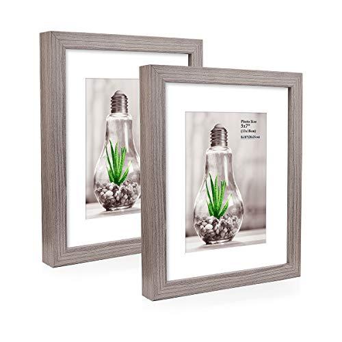 Metrekey - Juego 2 marcos fotos madera DM