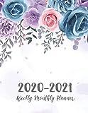 2 Year Daily Weekly Planner: Watercolor Flower Cover | 2020-2021 Daily Weekly Monthly Planner | 24 Months Agenda Planner Jan 2020 - Dec 2021 with ... Two Year Daily Weekly and Monthly Planner)