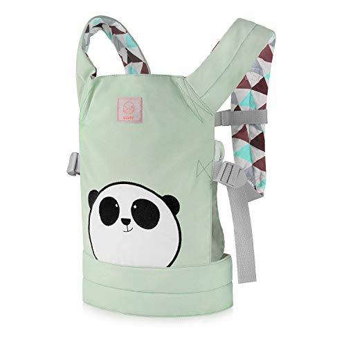 GAGAKU Muñeca Transporte Doll Carrier Delantera y Trasera de Bebé de Algodón para Niños de Hasta 18 Meses - Panda