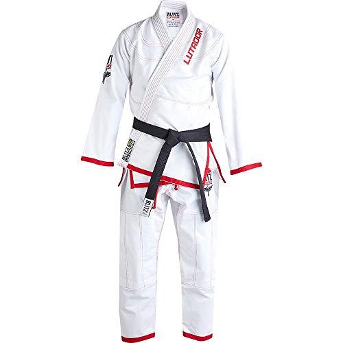 Blitz Jiu Jitsu Gi Lutador brasileño para niños, Infantil, Color Blanco, tamaño Talla M2