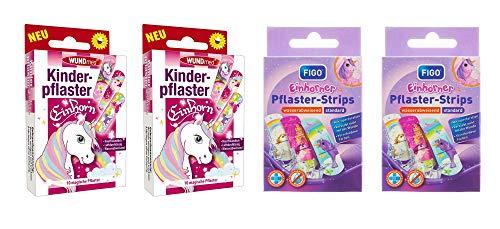 Kinderpflaster/Pflaster/Stripes für Kinder im Set - mit tollen bunten Motiven - wählbar: Kunterbunt – Prinzessin – Einhorn – Tiere - Cartoon/für Mädchen Einhorn
