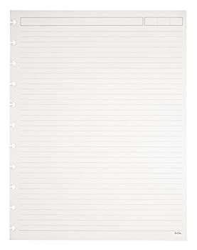 TUL Custom Note-Taking System Discbound Refill Pages 81/2  x 11  Narrow Ruled Letter Size 3 packs of 50 Sheets each  150 sheets total  White