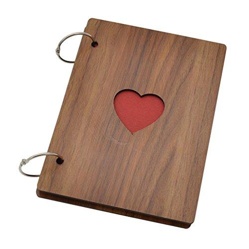 YNuth Holz Fotoalbum Bilderalbum Einklebebuch Tagebuch Scrapbooking Geschenk DIY