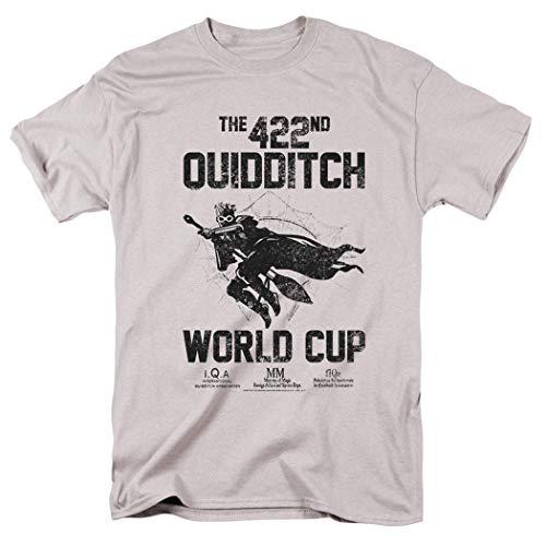 Popfunk Harry Potter Quidditch World Cup T Shirt & Stickers (Medium) Silver