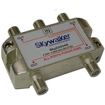 4-Way Coax Splitter 5-2300MHz